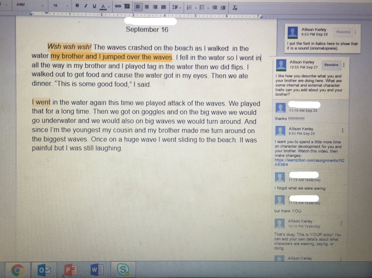 Allison Kerley Townsend On Twitter Writing Formative Assessment