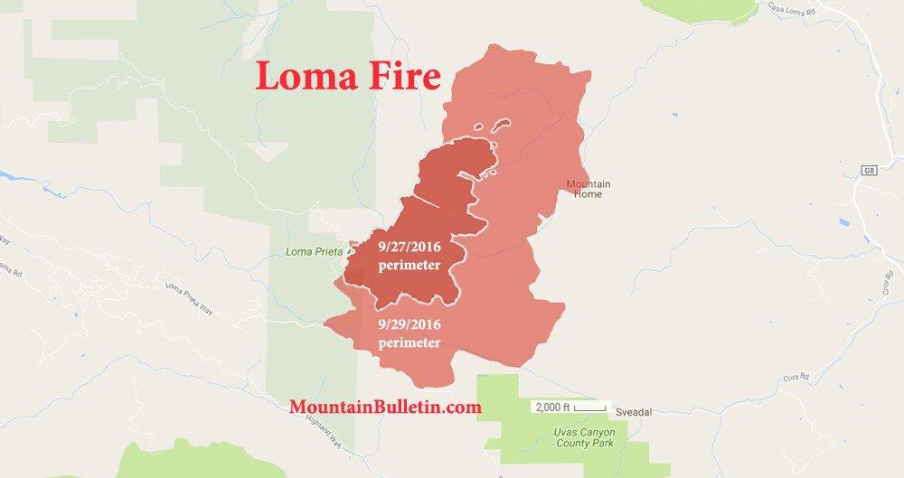 Loma Prieta Fire Santa Cruz Mountains September 2016