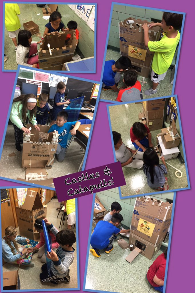 4th grade engineers...Cardboard Challenge 2016! #teamwork #seamanstrength @Ivysherman https://t.co/ONRkfaUVjC