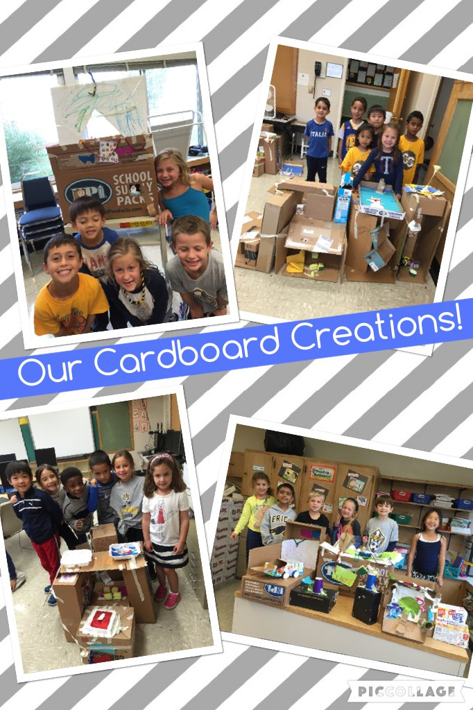 Our Cardboard Creations! #seamanstrength @ivysherman https://t.co/SqI1SW8POO https://t.co/6ImUfUqgv0