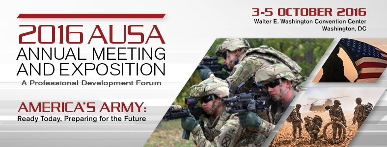 #AUSA2016 starts Monday morning! For stories, live streams, Green Book and Tweets visit: https://t.co/4rslppHmI2 https://t.co/BgL6O6jGIy