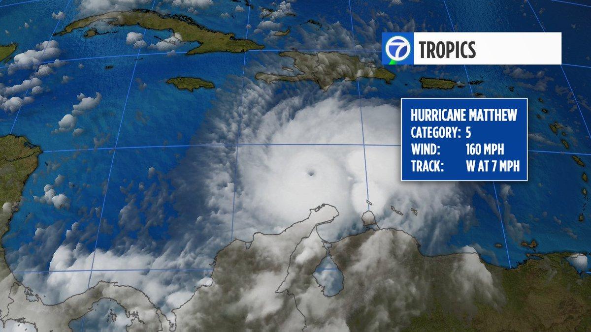 Matthew has intensified into a powerful cat 5 hurricane! Strongest in the Atlantic since Hurricane Felix in 2007.