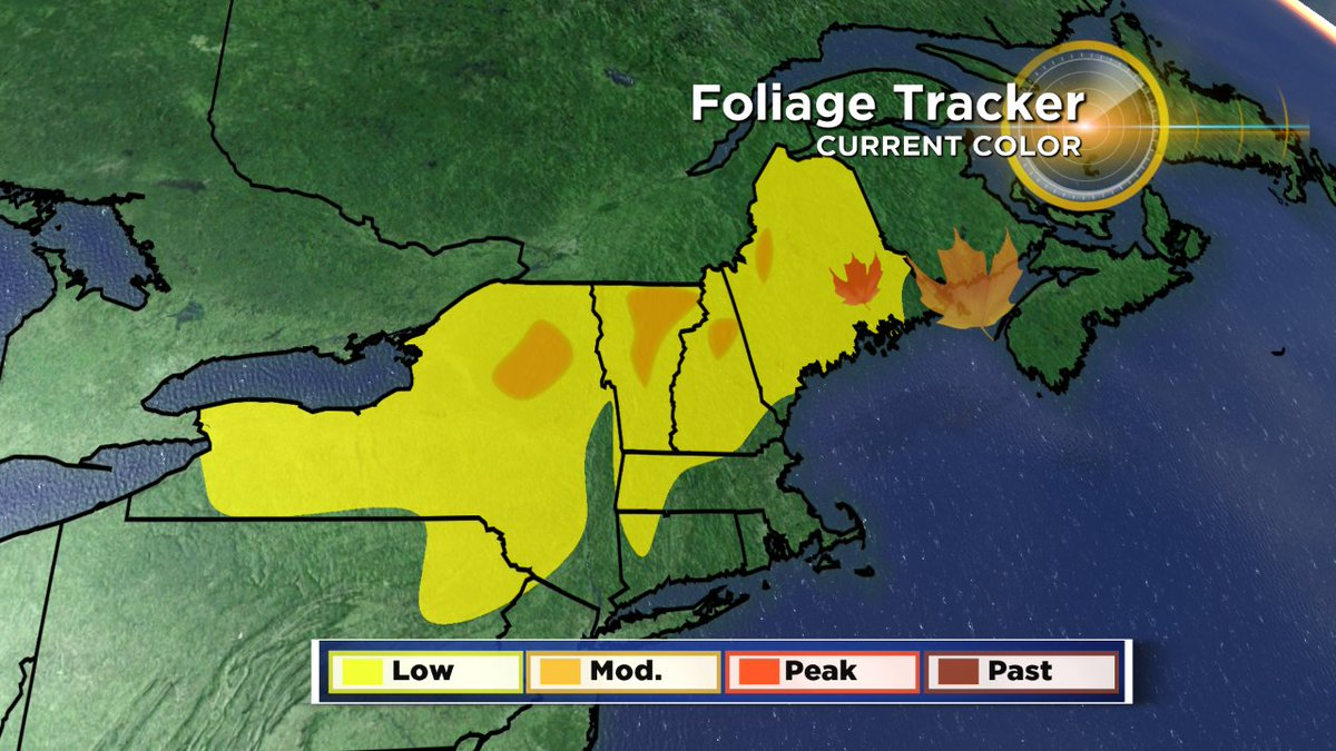 More color each week! Moderate color in some of northern NE. wbz