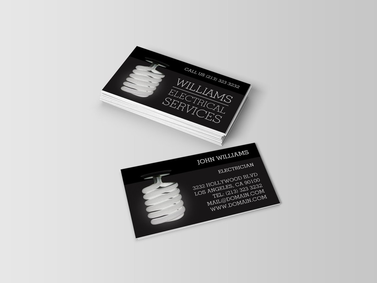 Awesome Business Cards to market your Electrical Services Company https://t.co/hfrlW4hFv9 #electrical #electricians #businesscards https://t.co/XWSOsObEpi
