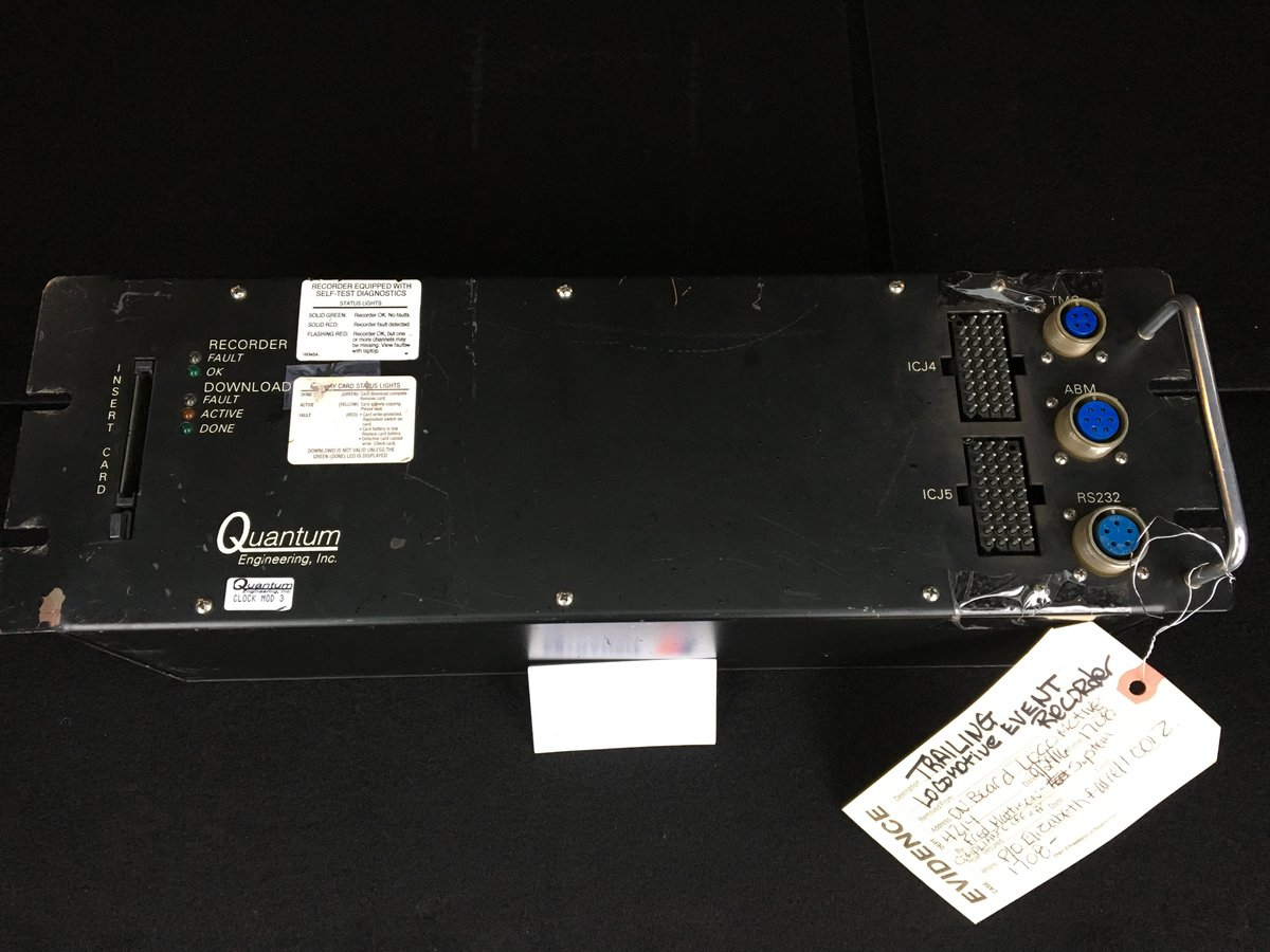 Image of event recorder from Hoboken accident locomotive avail for download at