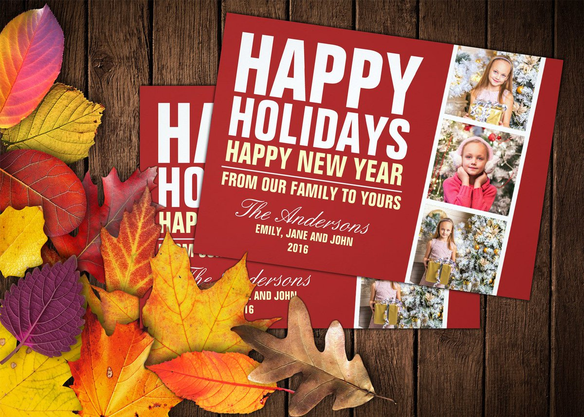 Send your #HappyHolidays and #Christmas wishes to your family and friends  #holidaycards #bold #family