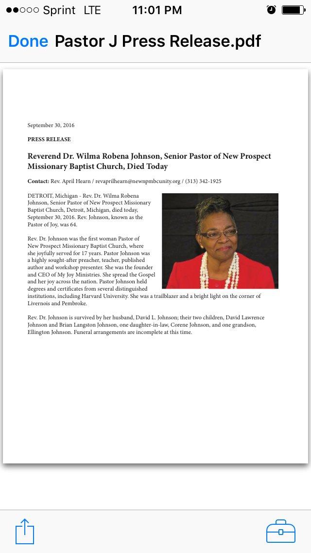 Rest In Peace Pastor J