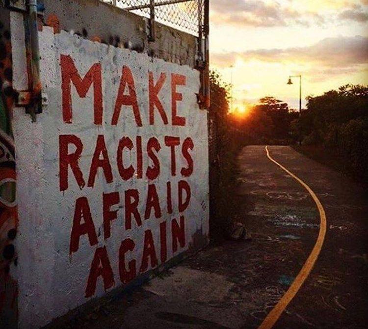 Make racists afraid again ...  #art #mural #trump #streetart