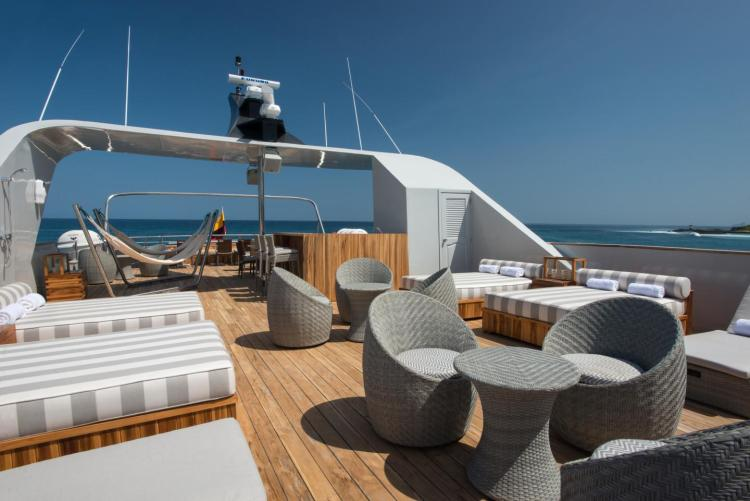 A luxury cruise to the Galápagos Islands combines adventure and comfort