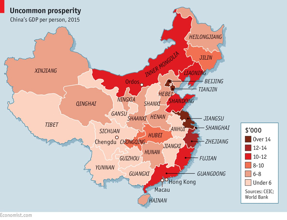 the increase of chinas prosperity and the economic status in the world