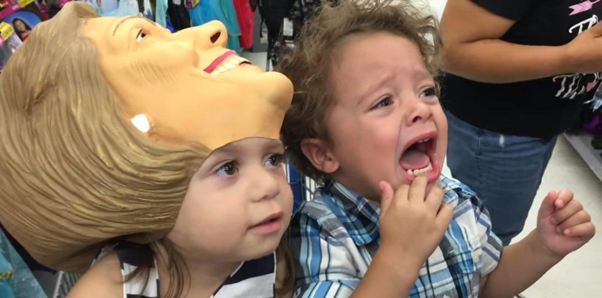 WE FEEL YA, KID: This toddler is as terrified of Trump as the rest of us