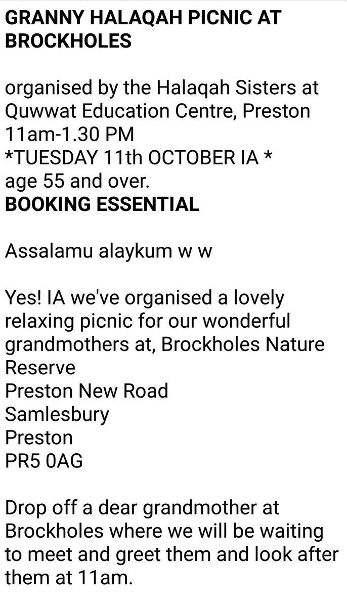 Quwwatul Islam On Twitter Granny Halaqah At Brockholes Tues 11th