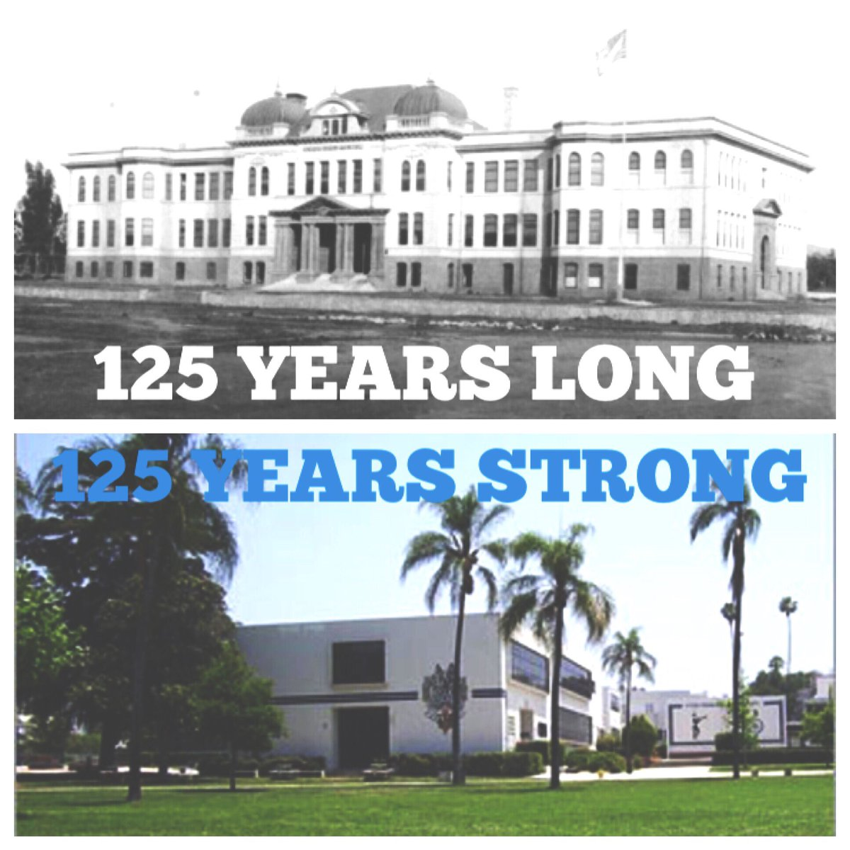 Happy 125th Birthday, Redlands High School!  On this day in 1891 students started class at what was then Union High School. 🎂 #125strong