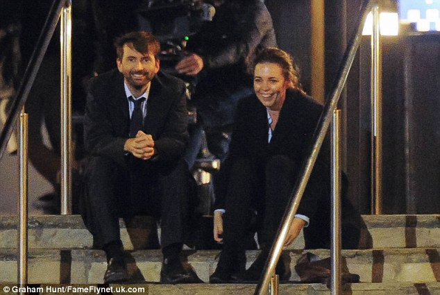 David Tennant filming Broadchurch Series Three this week