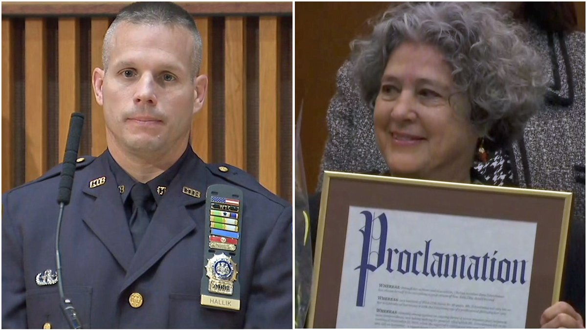 NYPD bomb squad officers, woman who reported pressure cooker bomb honored