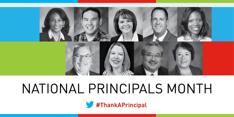 It's here!  National Principals Month begins today.  #ThankAPrincipal https://t.co/EnLrxRvUCb