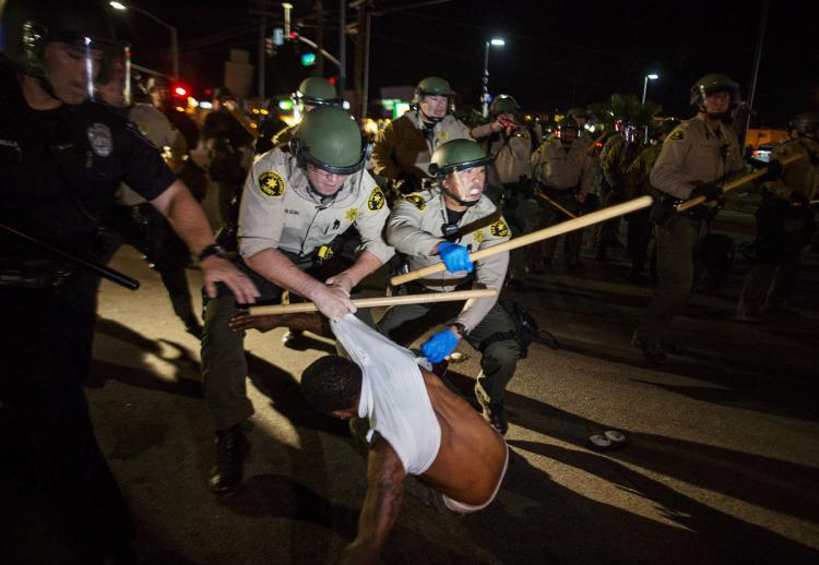 Violent protests break out in California over Alfred Olango