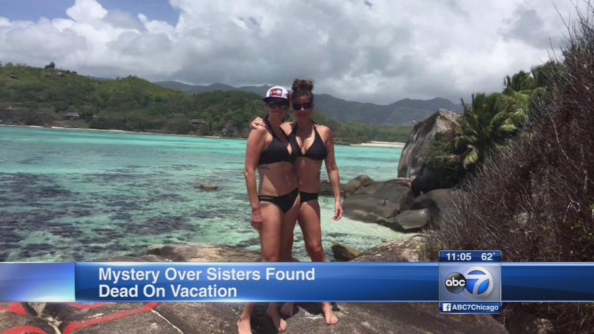 2 American sisters found dead in Seychelles showed no obvious injuries: local authorities