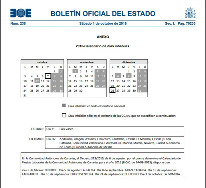 Boe Calendario.Punto Acceso General On Twitter A Partir Del 2 Oct Los Sabados Son