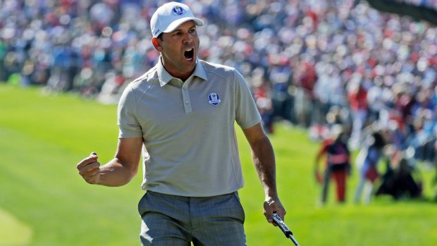Europe pulls within half-point of U.S. at Ryder Cup