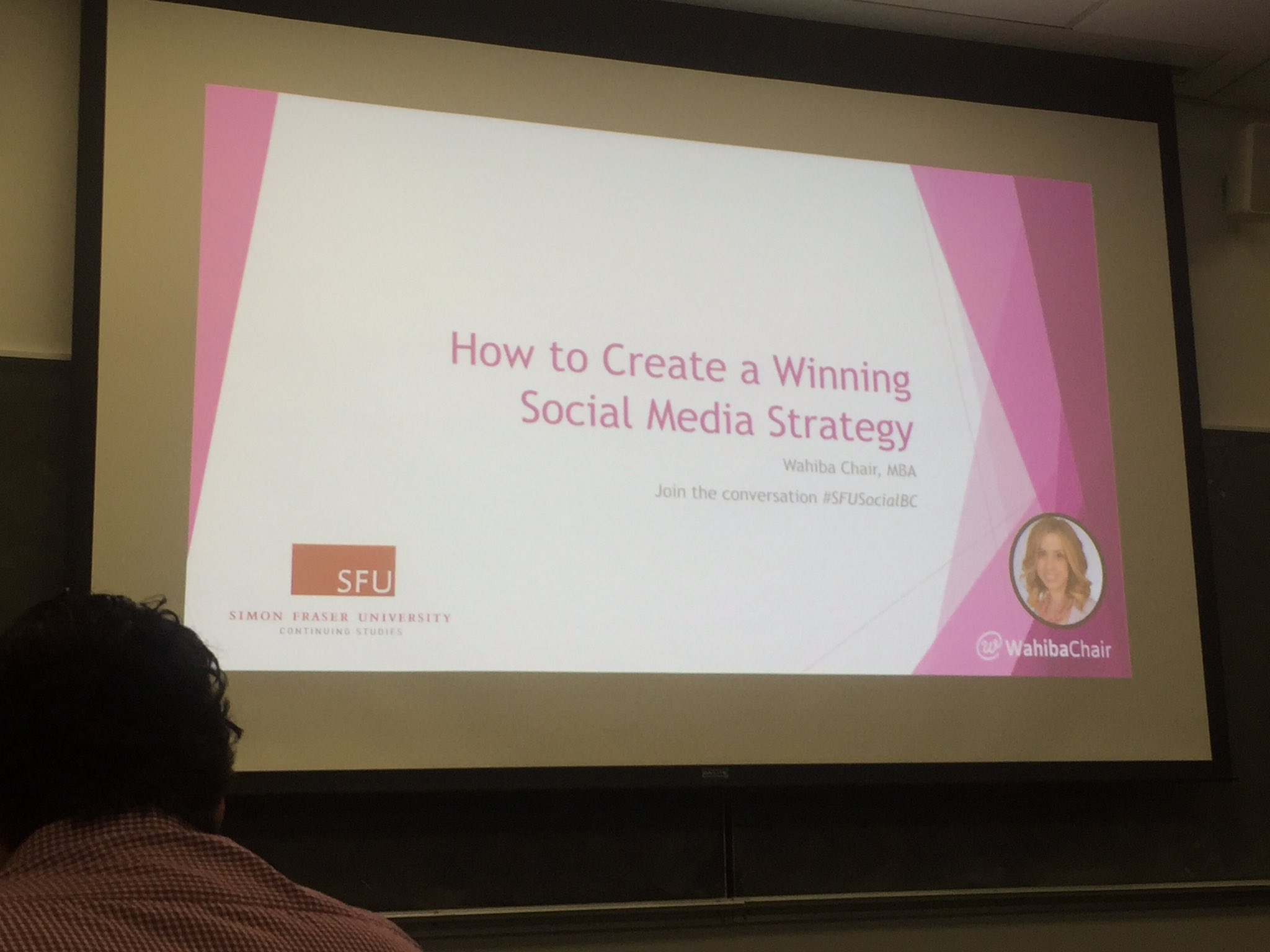 Learning to be more cutting edge from the talented @WahibaChair! So far so good :) #SFUSocialBC https://t.co/pPYvPjMLZV