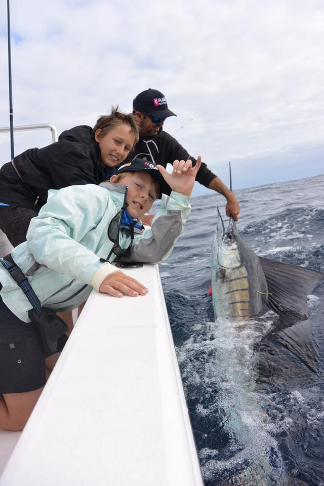 Exmouth, Aus - Ningaloo released 2 Sailfish and a Black Marlin in the Australian Junior Billfish Tournament.