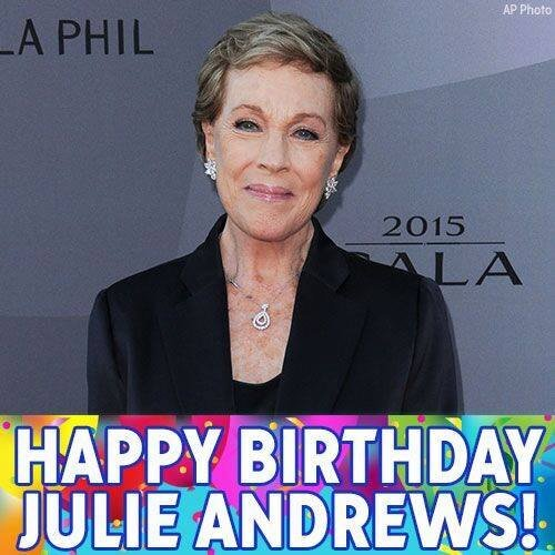HappyBirthday, JulieAndrews! Wishing you a day that's practically perfect in every way!