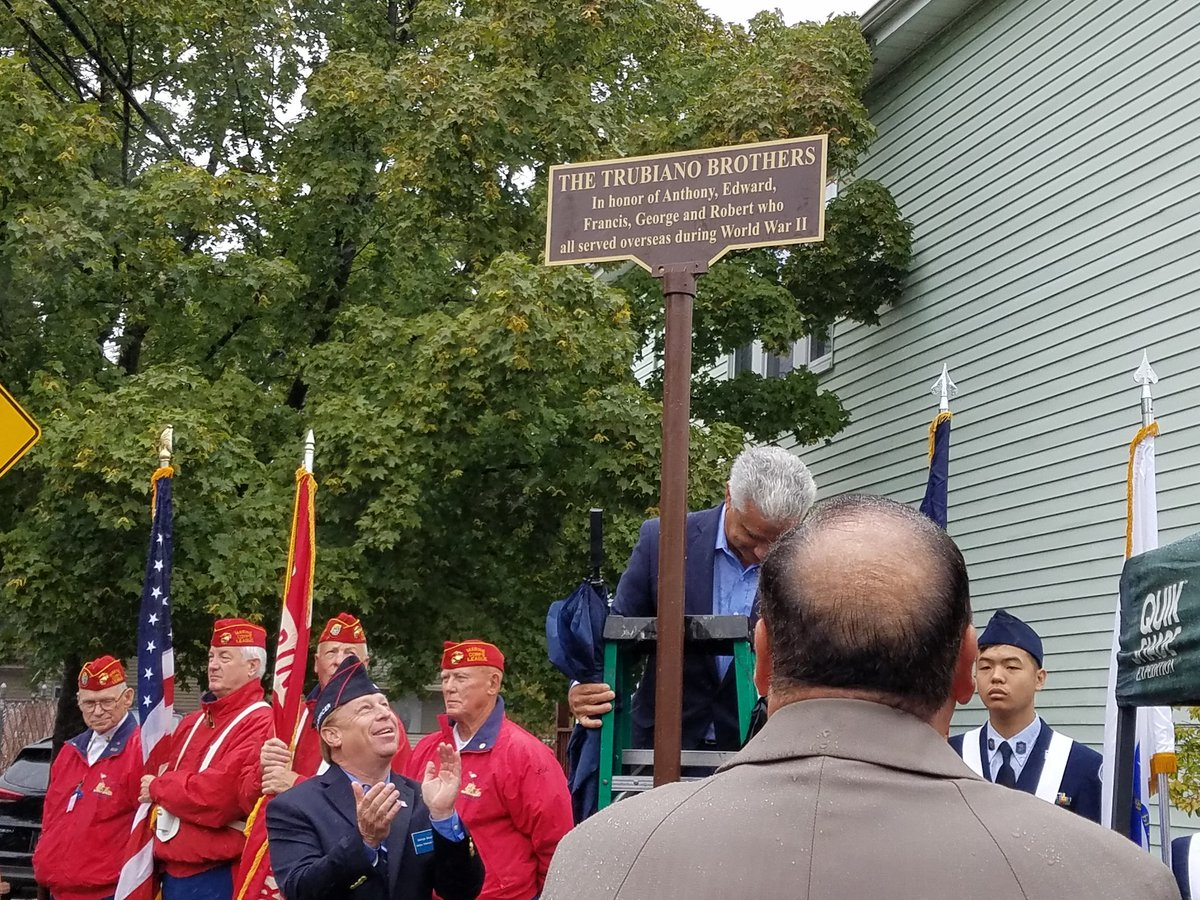 The corner of Fowler and Lancaster in Quincy is named for the Trubiano brothers who all served overseas in WWII.
