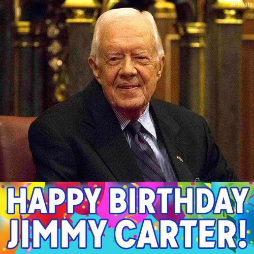 HappyBirthday, President JimmyCarter! Our 39th president turns 92 today -- join us in wishing him well!