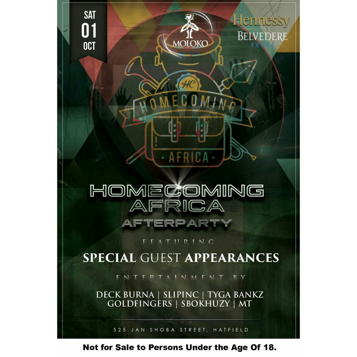 The official #HomeComingAfterParty is @MolokoPretoria 2nyt https://t.co/LmF0i8i58l