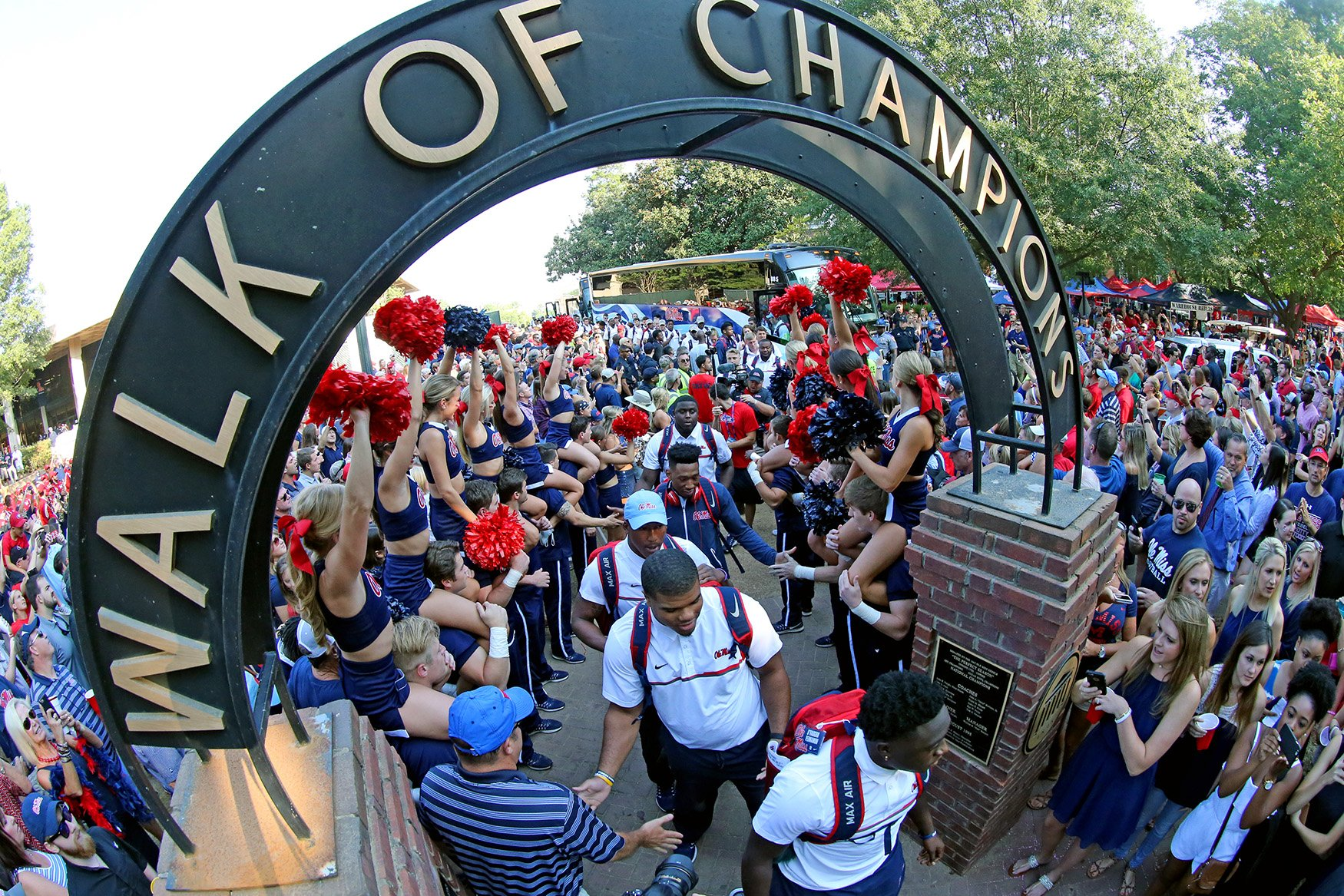 Image result for ole miss walk of champions