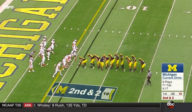 Long I-formation for Michigan.