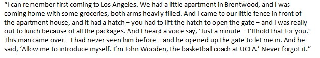 If you haven't heard the story of how Vin Scully met John Wooden, he told it on the air today. https://t.co/rz9nvcUZGH