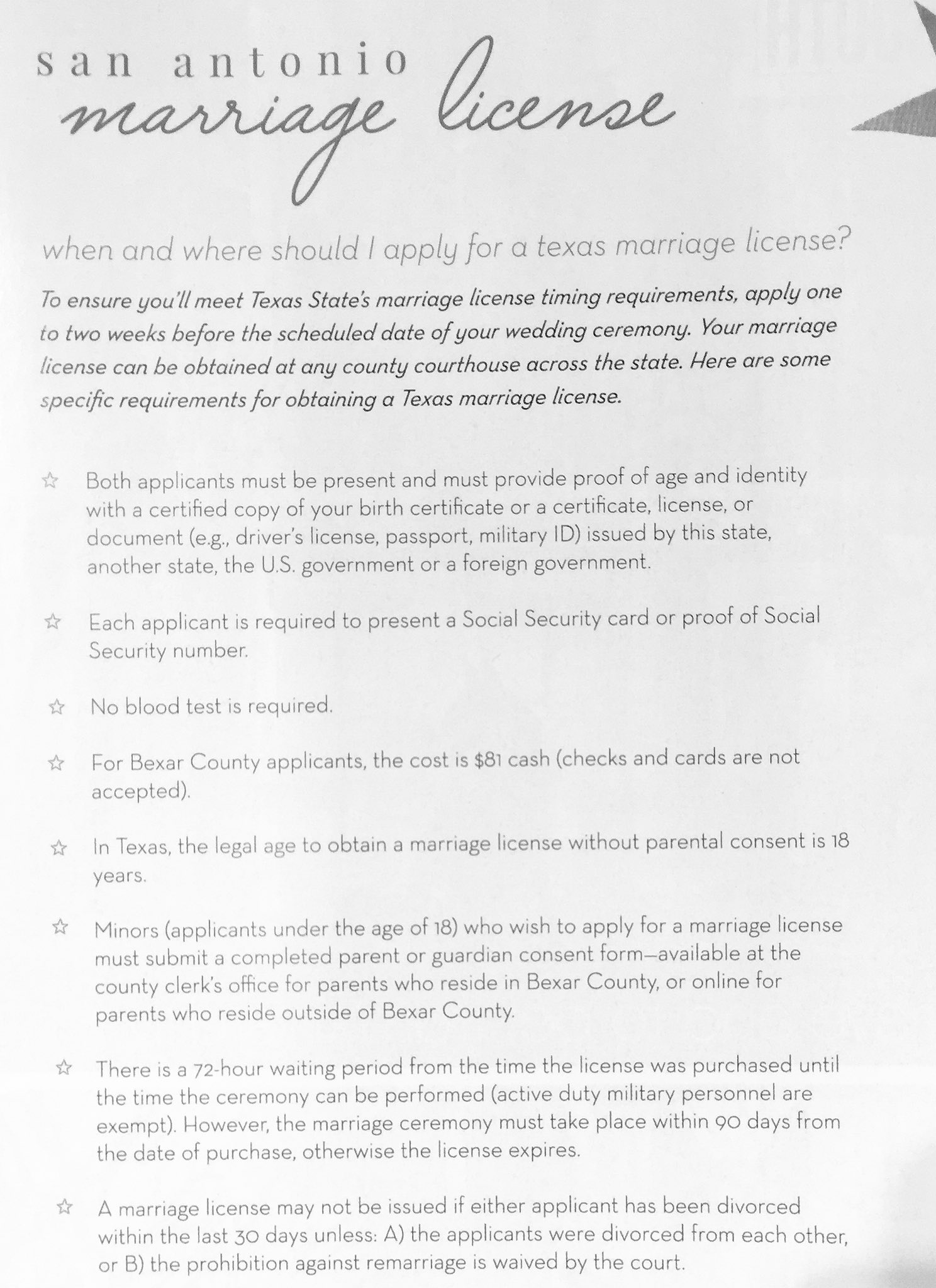 Bridal connection on twitter important facts about getting your bridal connection on twitter important facts about getting your marriage license in texas thanks to san antonio weddings magazine for the info aiddatafo Choice Image