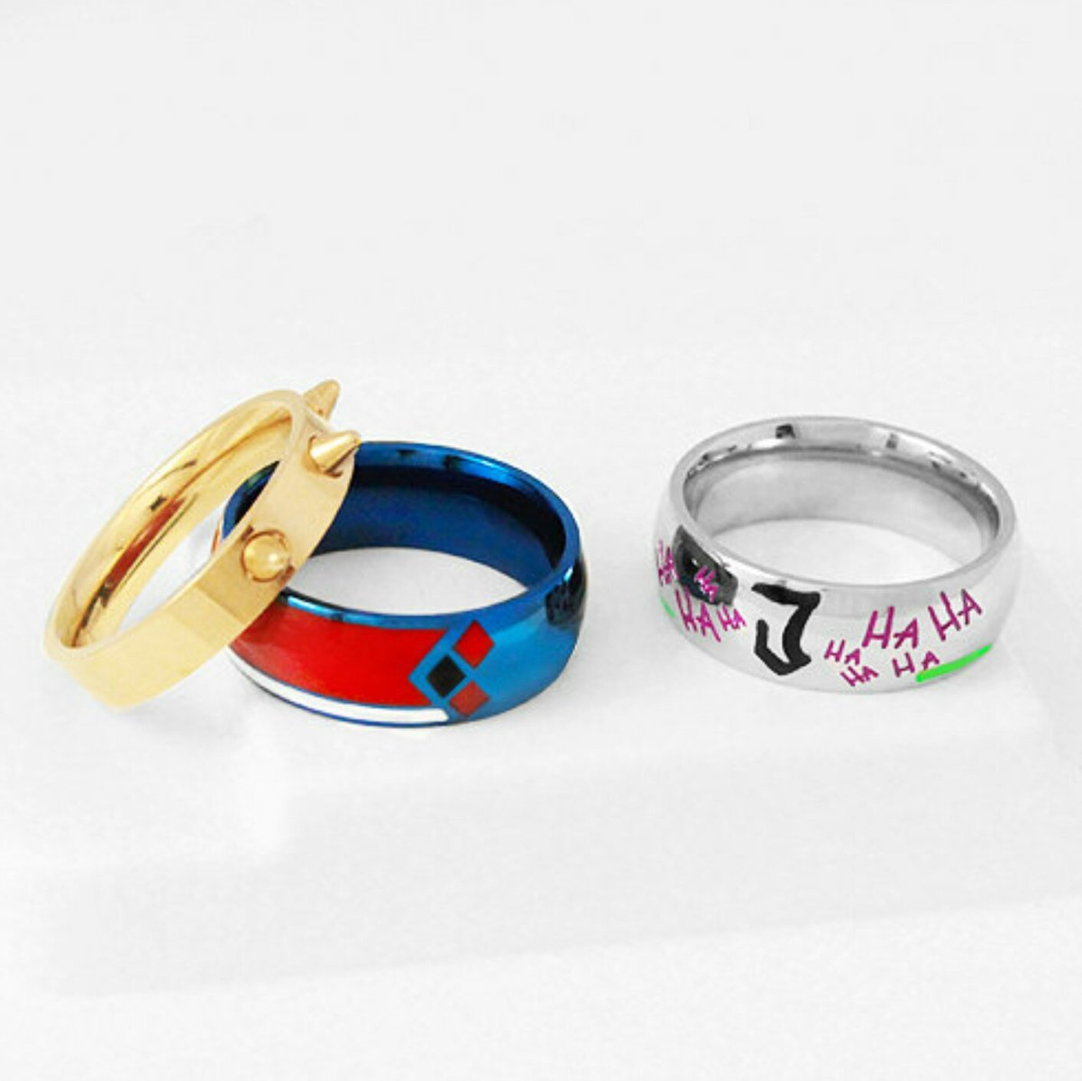 These Harley Quinn & Joker Couple Rings Tho :o Love The Harley Quinn's Set  Especially