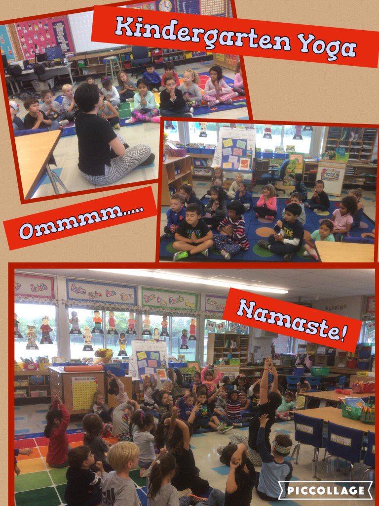 Thanks to Mrs. Kaufman... Yoga with Marguerite from Puerto Rico! @Ivysherman @KinderKids5 @Room1fun #seamanstrength https://t.co/L8Z3pUjrXg