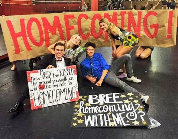 Friend Homecoming Proposals Feat Hamilton Friend Excited