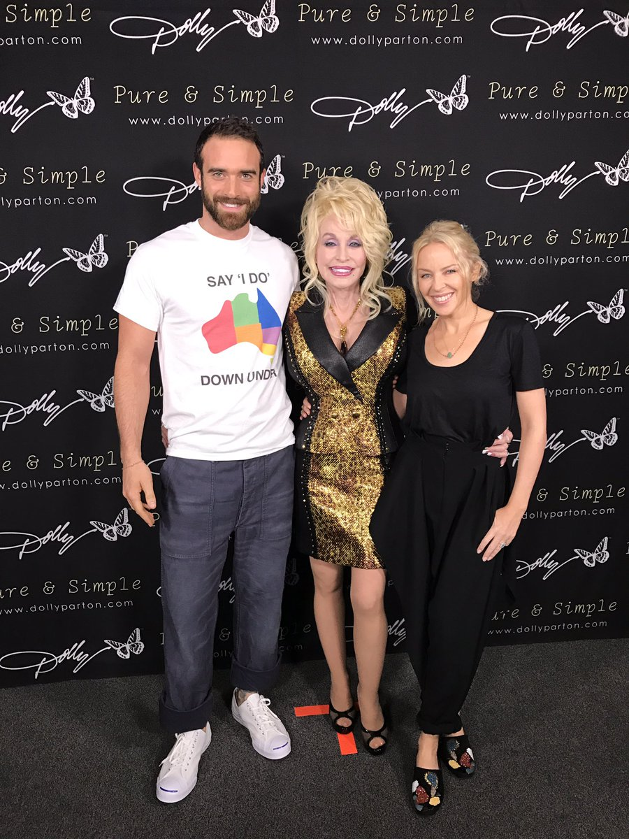 Kylie minogue and dolly at meet and greet world news celebrity share this post m4hsunfo