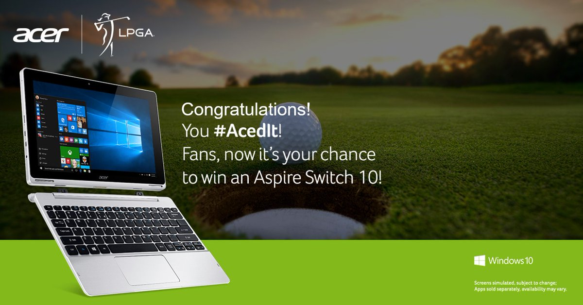 What a shot @pernillagolf of @LPGA! Fans, reply #Acedit for your chance to #win! T&C:https://t.co/uPWKai2gtS https://t.co/kSloHSNbEG