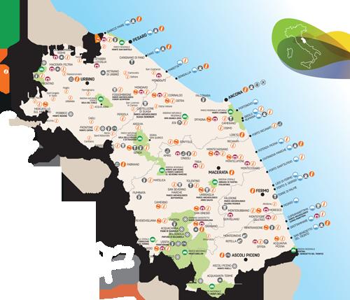 Marche Cartina.Abc Turismo Marche V Twitter La Mappa Delle Marche Di Qualita Bandiereblu Bandierearancioni Borghi Parchi Https T Co Quacdqbjf2