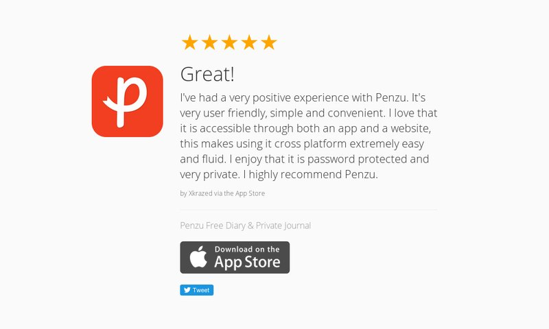 "5 Star Review: ""Great!: I've had a very positive experience with Penzu. It's very user fri…"" https://t.co/fQQbWtb5yd https://t.co/UyPu0Fn7Ta"
