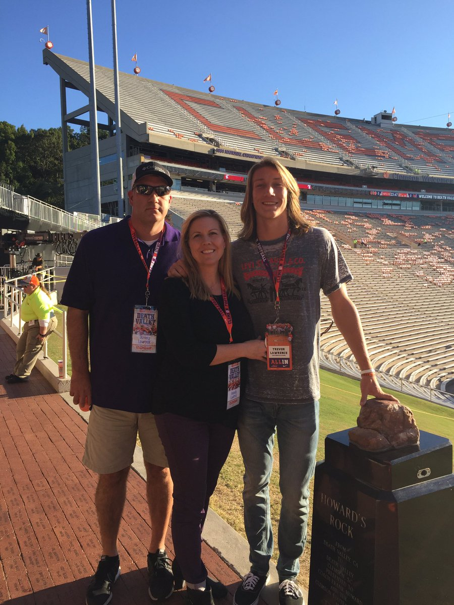 "Clemson ""Great on visit Lawrence Trevor at Twitter:"