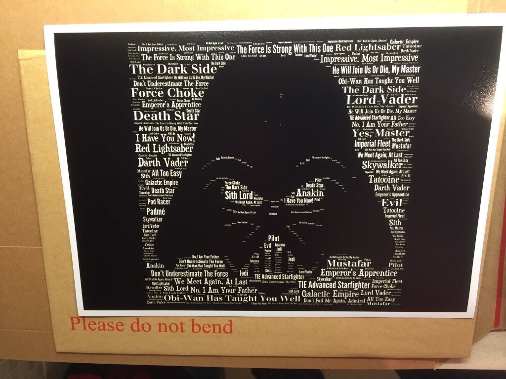 Know a Star Wars fan? I'm giving this print to a follower at 10pm Just RT and follow for a chance to enter