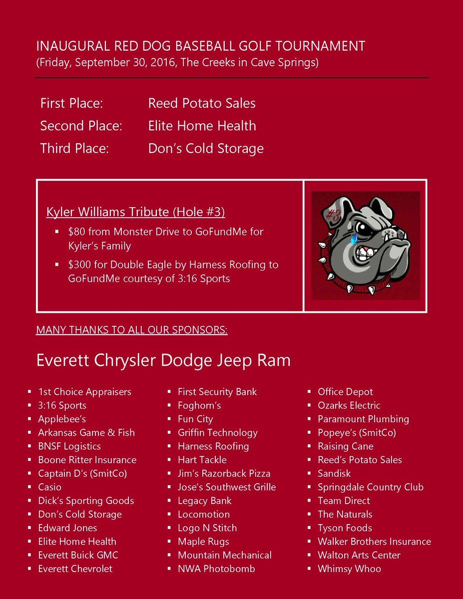 Everett Chevrolet Springdale Ar >> Shs Baseball On Twitter Thank You To Our Sponsors For