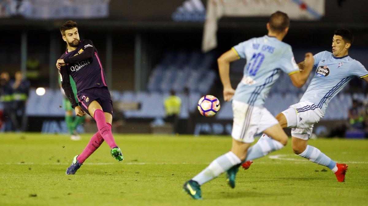 Pique passing against Celta Vigo on 2ns October 2016