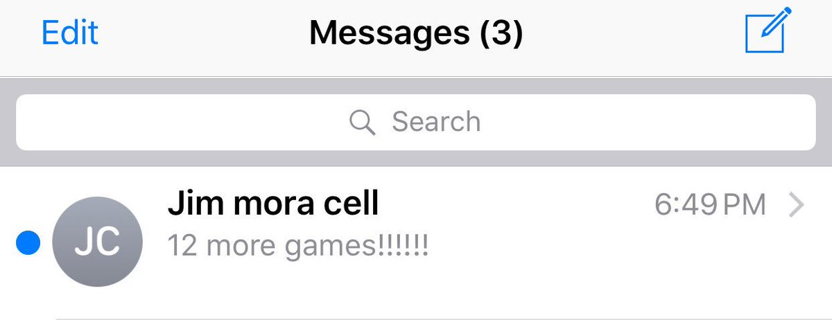 So I just got this text from Jim Mora as #Saints game ended. https://t.co/r59qYZ8NXo