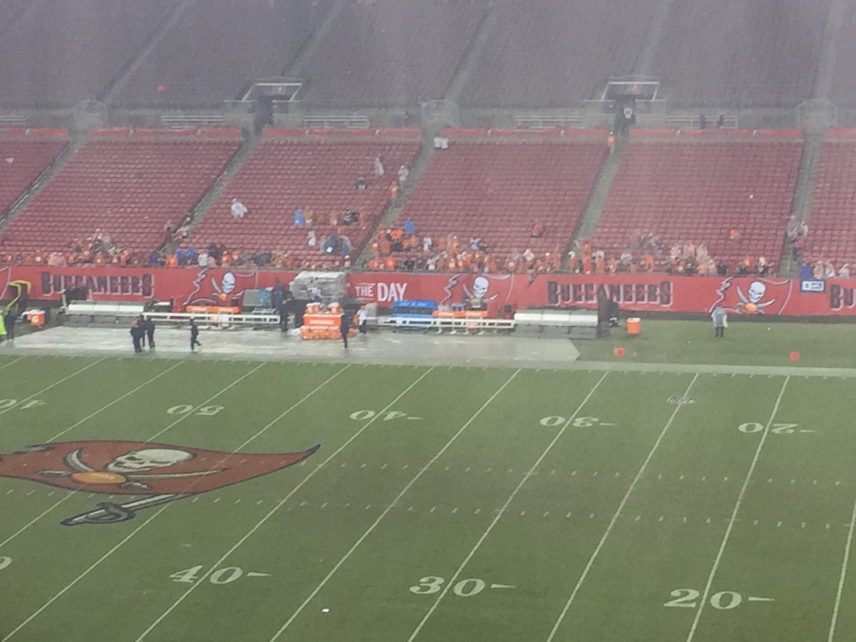 Look who's braving the elements in the front few rows in Tampa.. #BRONCOS fans! https://t.co/lSkKpXSqSh