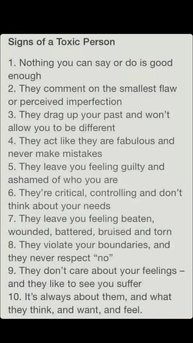 Signs of toxic parents