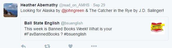Thumbnail for #bsuenglish Tweets for Week 10/3/16