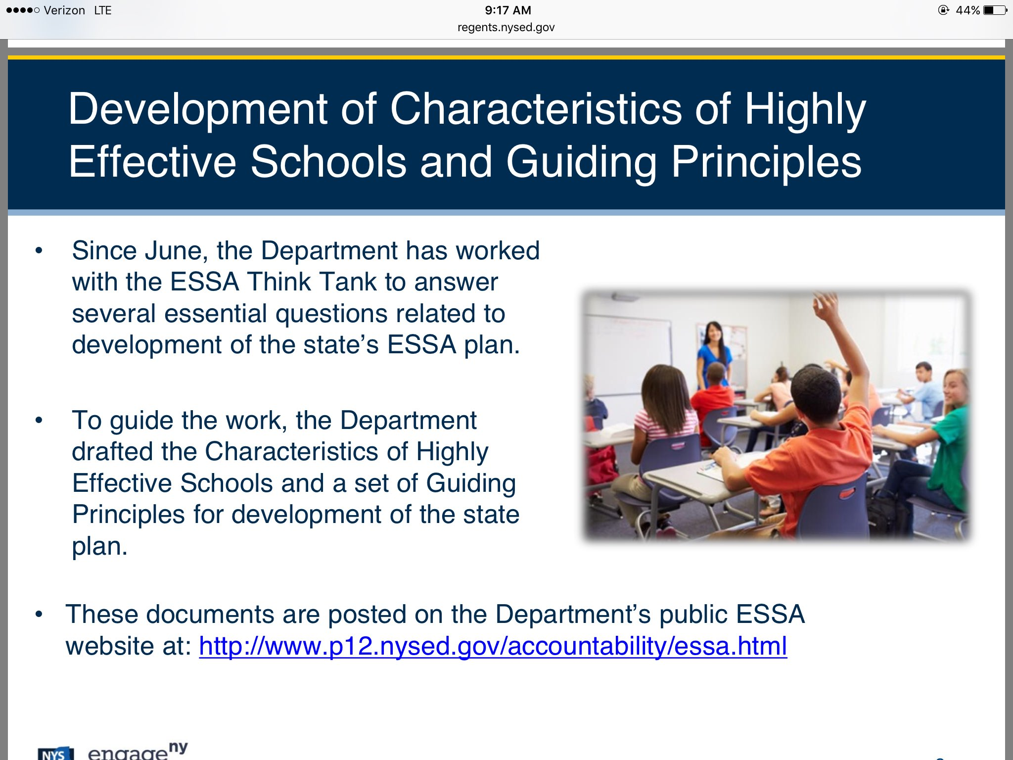 Development of guiding principles and high concept ideas recent work of Think Tank @NYSEDNews @NYSPTA https://t.co/5b4K7cmB1T